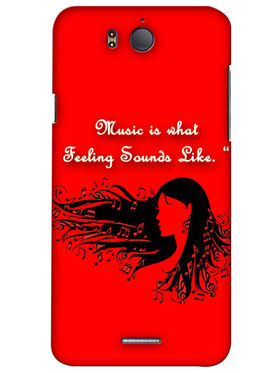 Snooky Digital Print Hard Back Case Cover For InFocus M530 - Red