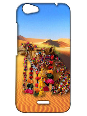 Snooky Digital Print Hard Back Case Cover For Micromax Bolt Q338 - Yellow