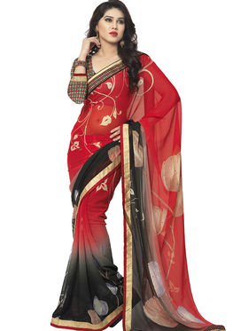 Viva N Diva Printed Chiffon Saree -vnds65