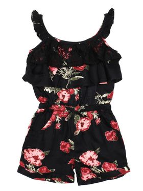 ShopperTree Printed Black Viscose Jumpsuit -ST-1632_6-12M