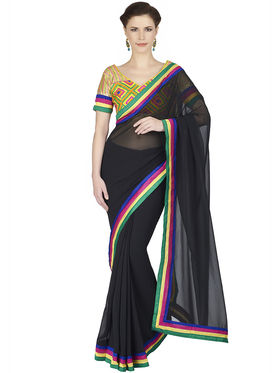 Designersareez Faux Georgette Embroidered Saree -1884