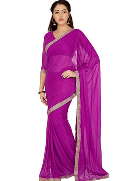 Designersareez Zari Threaded Lycra Saree -1999