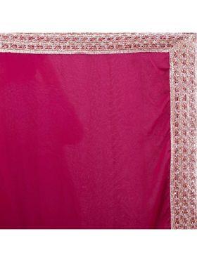 Designersareez Zari Threaded Lace Georgette Saree -2001