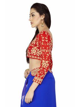 Designersareez Plain Georgette Saree -2012