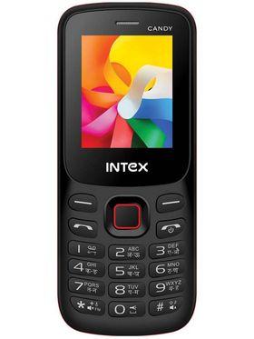 Intex Candy Dual Sim Phone - Black & Red