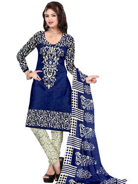 Combo of 4 Viva N Diva Butter Crepe Unstitched Suit -vnd02