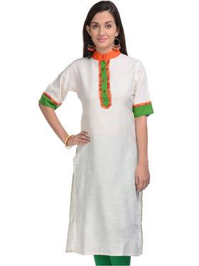 Lavennder Khadi Solid Kurti -623385