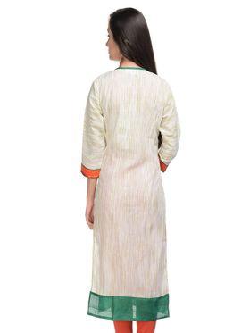 Lavennder Khadi Striped Kurti -623387