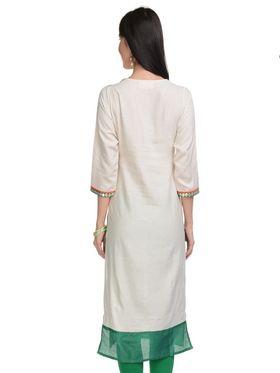Lavennder Khadi Solid Kurti -623400
