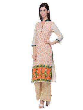 Lavennder Khadi Hand Blocked Kurti -623553