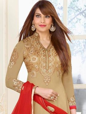 Adah Fashions Embroidered Georgette Semi-Stitched Suit 753-24002