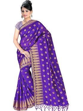 Adah Fashions Dark Blue South Silk Saree -888-101