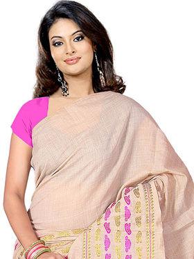 Adah Fashions Beige South Silk Saree -888-104