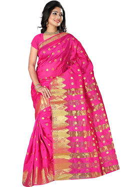 Adah Fashions Pink South Silk Saree -888-116