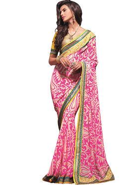 Zoom Fabrics Georgette Printed Saree -A1106