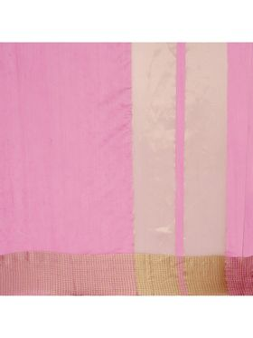 Pink Chanderi  Saree with Chanderi Blouse Piece_ADM-SR-SNH3-10072