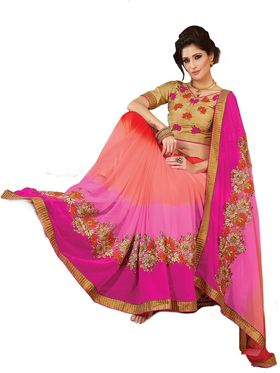 Khushali Fashion Embroidered Georgette Saree(Multi)_ASFPVA351
