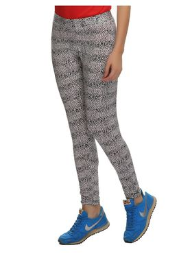 Clovia Polyamide  Spandex Animal Print High Rise Tights -AT0016P13