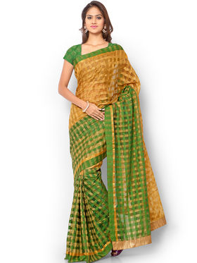 Admyrin Kota Check Saree with Brocade Blouse Piece-ays03