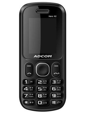 Adcom X2 Hero Dual Sim Mobile   White   Blue available at Naaptol for Rs.3499