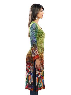 Admyrin Georgette  Printed Kurti - Multicolor - 1250