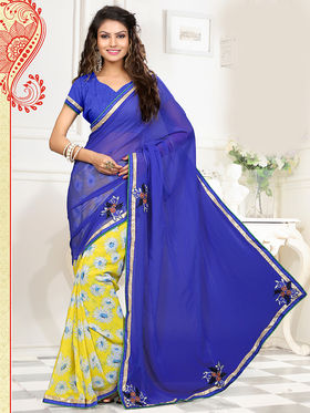 Viva N Diva Georgette  Embroidered Saree Anaisha-1011