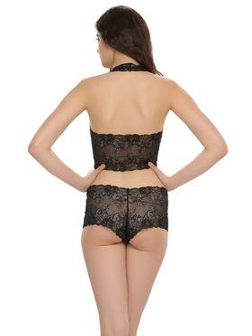 Clovia Nylon Lace Solid Bra & Panty Set -BP0039Q13