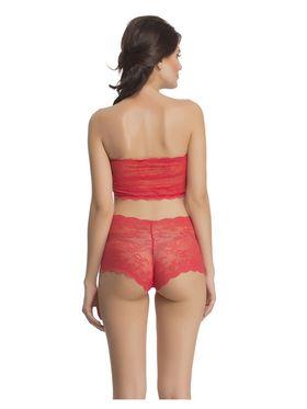 Clovia Nylon Lace Solid Bra & Panty Set -BP0218C04