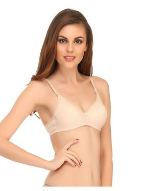 Clovia Cotton Blend Solid Bra -BR0454P24