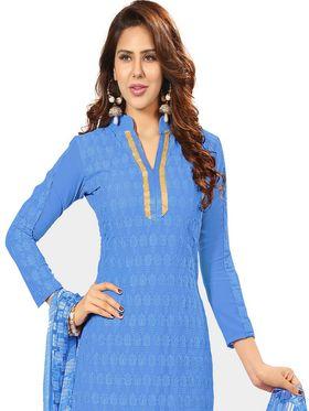 Khushali Fashion Georgette Embroidered Unstitched Dress Material -BRCRHI41005