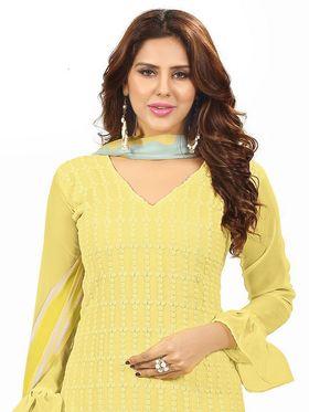 Khushali Fashion Georgette Embroidered Unstitched Dress Material -BRCRHI41008