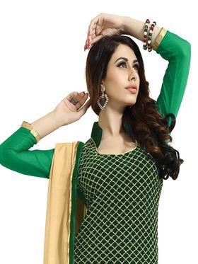 Khushali Fashion Velvet Embroidered Unstitched Dress Material -BRCVLT1001