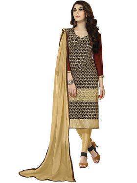 Khushali Fashion Velvet Embroidered Unstitched Dress Material -BRCVLT1005