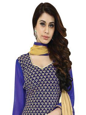 Khushali Fashion Velvet Embroidered Unstitched Dress Material -BRCVLT1007