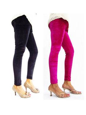 Combo of 2 Arisha Velvet Solid Legging -CMBB03