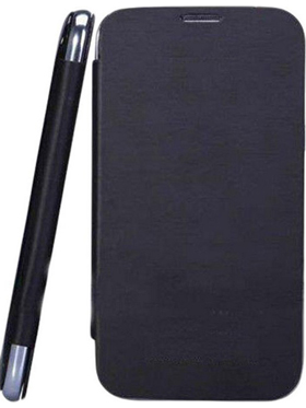 Camphor Flip Cover for Micromax A200 - Black