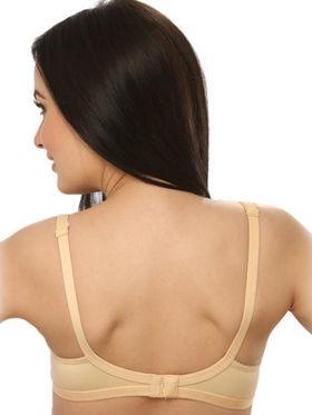 Clovia Blended Plain Bra - Skin