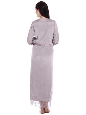 Set of 2 Clovia Blended Plain Nightwear - Silver