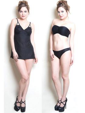 Set of 2 Clovia Blended Plain Nightwear - Black