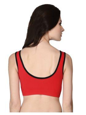 Clovia Cotton Plain Bra - Red