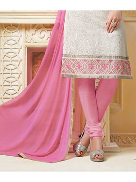 Viva N Diva Banarasi Chanderi Embroidered Unstitched Suit  Color-Blossom-03-1043