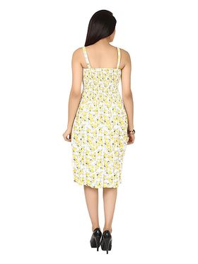 Arisha Cotton Printed Dress DRS1017_Wht-Ylw