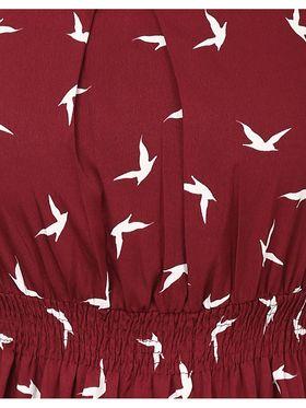 Arisha Crepe Printed Dress DRS1034Mrn-M