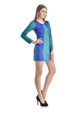 Arisha Viscose Solid Dress DRS1067_Trq-Blu