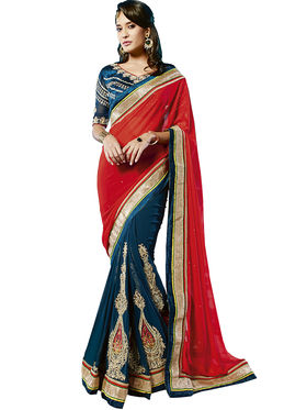 Zoom Fabrics Georgette Embroidered Saree -E708