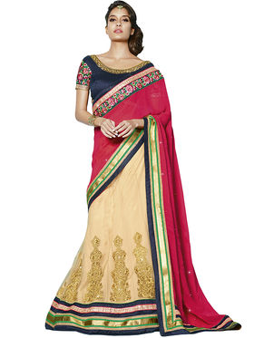 Zoom Fabrics Georgette Embroidered Saree -E716