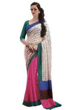 Ethnic Trend Cotton Printed Saree - Multicolour - 10026
