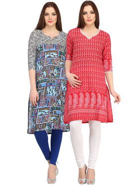 Pack of 2 Branded Cotton Printed Kurti -ewsk30