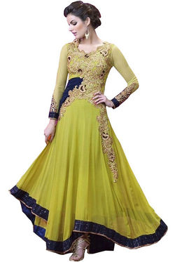Fabfiza Embroidered Net Semi Stitched Salwar Suit_FB-5059