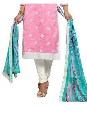 Fabfiza Embroidered Cotton Semi Stitched Salwar Suit_FB-5089